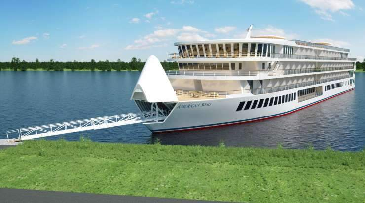 Once it debuts, American Song will cruise the line's Lower Mississippi River itineraries before repositioning to the West Coast