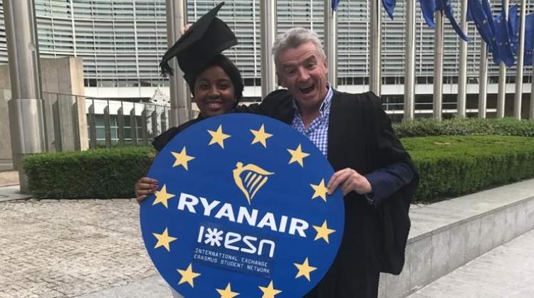 From right to left, Safi Sabuni, president, ESN and Michael O'Leary, CEO, Ryanair