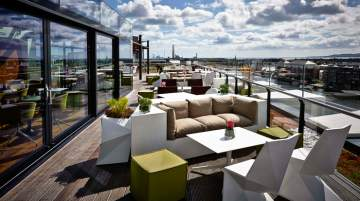 The Marker Hotel Dublin, rooftop bar and terrace
