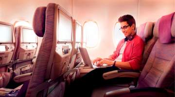 Passengers from all cabin classes receive 20MB of free Wi-Fi data
