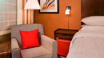 The hotel is a five-minute drive from General Mitchell International Airport-MKE
