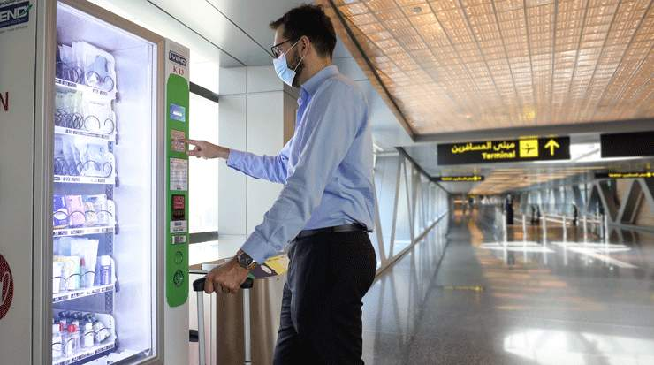 HIA installed vending machines with Personal Protective Equipment