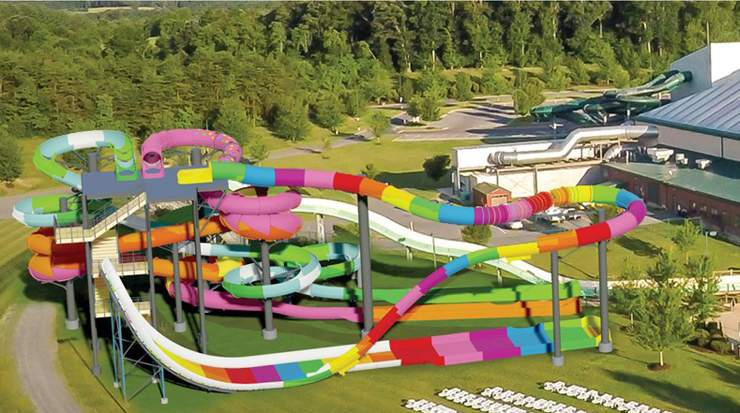 Outdoor WaterPark in Massanutten Resort