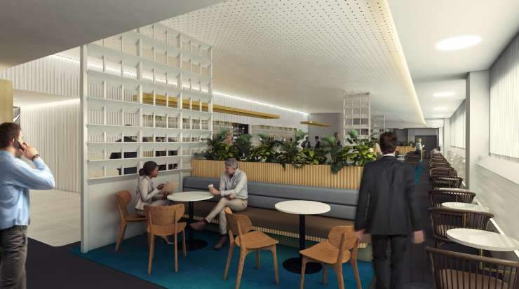 The Melbourne Qantas Club and Domestic Business Lounge are currently being redeveloped