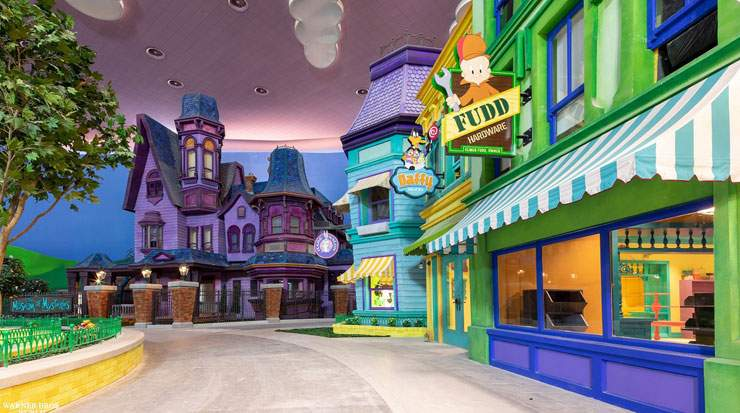 Attraction's include Cartoon Junction featuring beloved characters, including; Bugs Bunny, Tom and Jerry, and Scooby-Doo