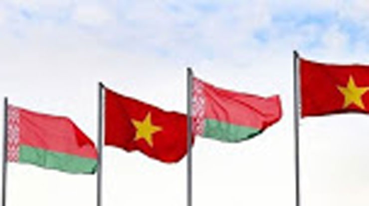 Flags of Belarus and Vietnam
