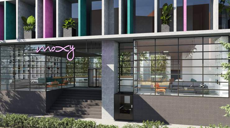 Artist impression of Moxy in Mexico City