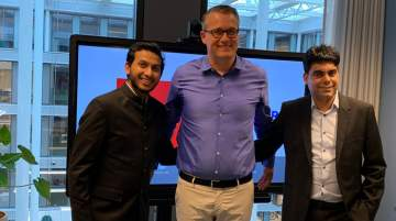 Ritesh Agarwal, Group CEO, OYO Hotels & Homes, Tobias Wann, CEO @Leisure, and Maninder Gulati, global chief strategy officer, OYO Hotels & Homes