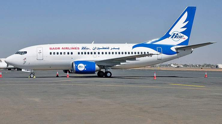Badr Airlines operates two Boeing B737-700s and five Boeing B737-500s