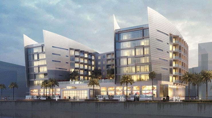 Rendering of Al Mouj Rayhann by Rotana