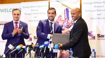 Sanad signing a landmark agreement with Ethiopian Airlines