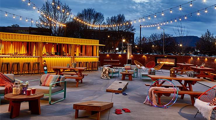 Moxy Chattanooga Railyard Container Bar