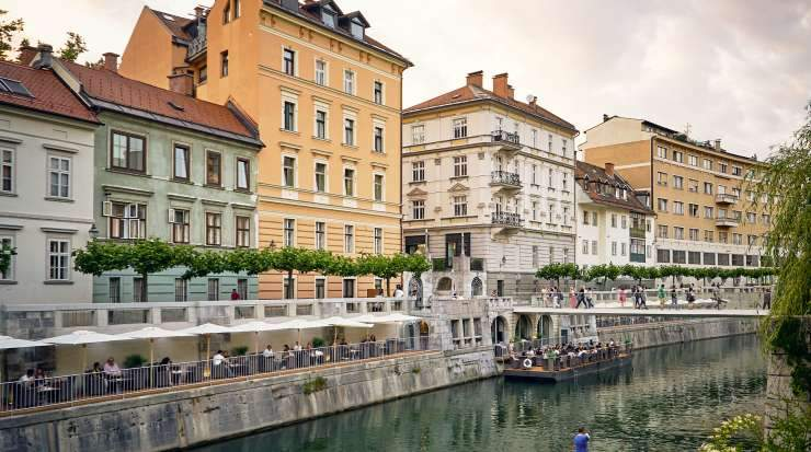 Ljubljana is popular among tourists for its architecture and the medieval Ljubljana Castle complex standing on a hill above the city's downtown