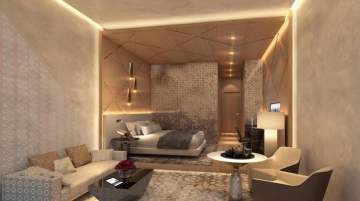 Artist impression of a guestroom at Grand Hyatt Makkah