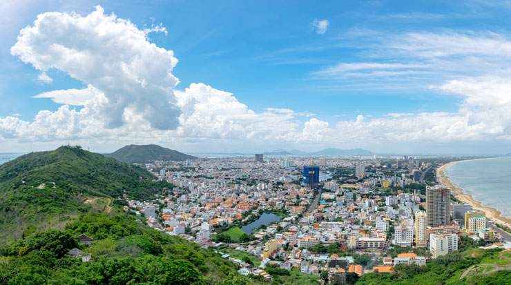 Vung Tau is located 100 km from Ho Chi Minh City
