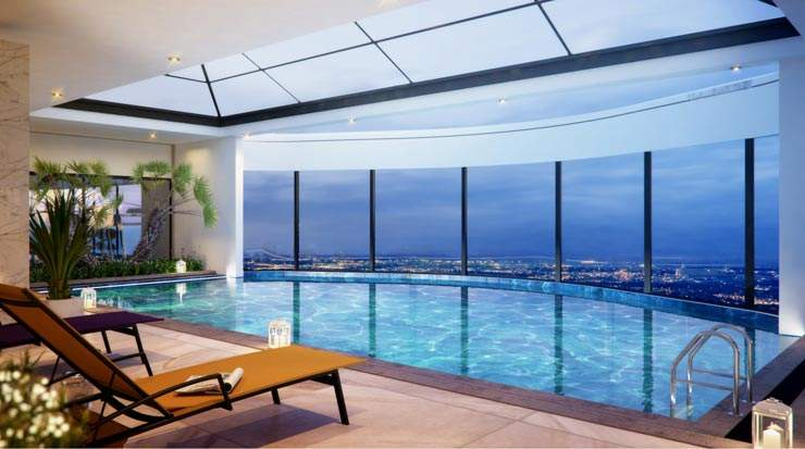 Avani Nairobi Suites, rooftop swimming pool rendering