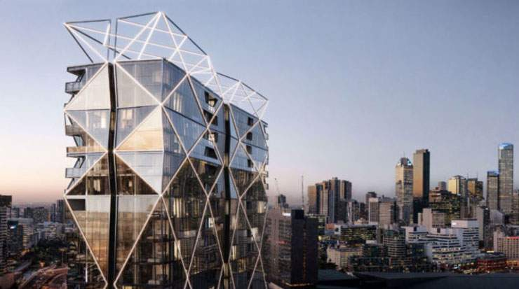 Guest rooms will offer views of the city skyline and Yarra River