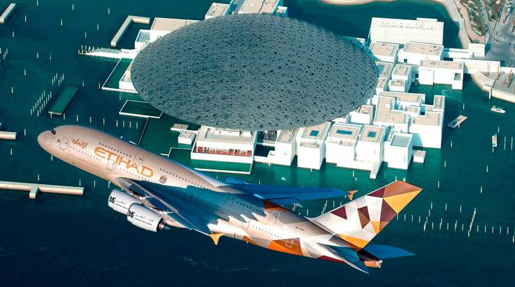 Etihad Airways' A380s feature a total capacity of 496 seats