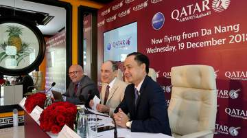 H.E. Akbar Al Baker, group CEO, Qatar Airways, hosted a press conference in Da Nang