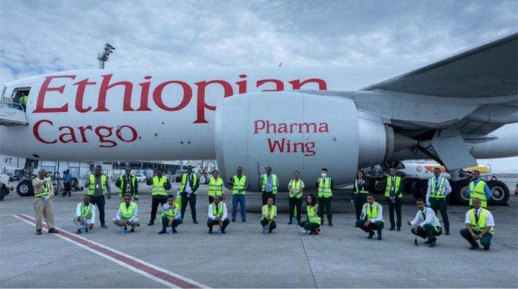 Ethiopian Airlines delivered medical supplies