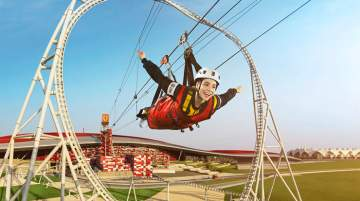 Ferrari World Abu Dhabi launches roof walk and zip line experiences