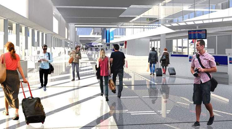Delta and LAWA also released new renderings of the facility, which show the interior and exterior plans