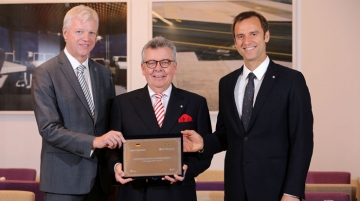 From Left: Thomas Willms, chief operating officer, Deutsche Hospitality, Joachim Marusczyk, managing director, IntercityHotel, Alexandre Gehlen, founder, Intercity Hotels