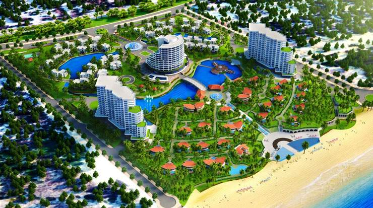 The new resort will be nestled on golden sand overlooking the azure East Sea