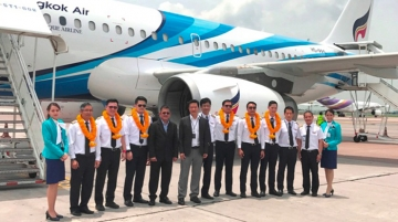 A319 delivery ceremony, Suvarnabhumi Airport