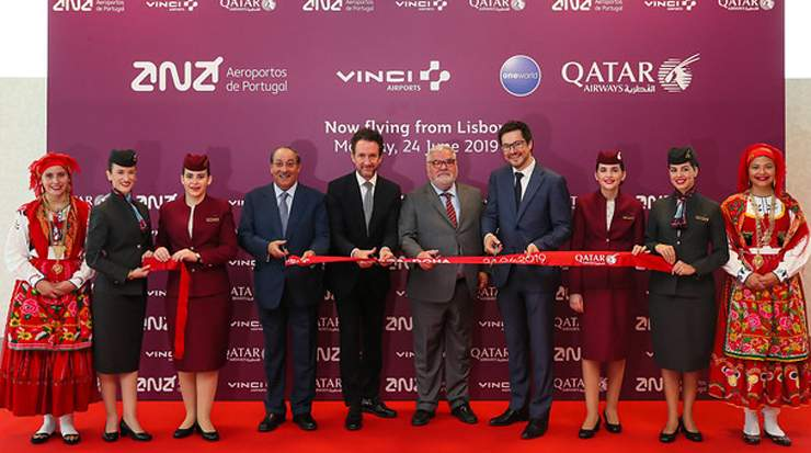 Qatar Airways touched down in Lisbon